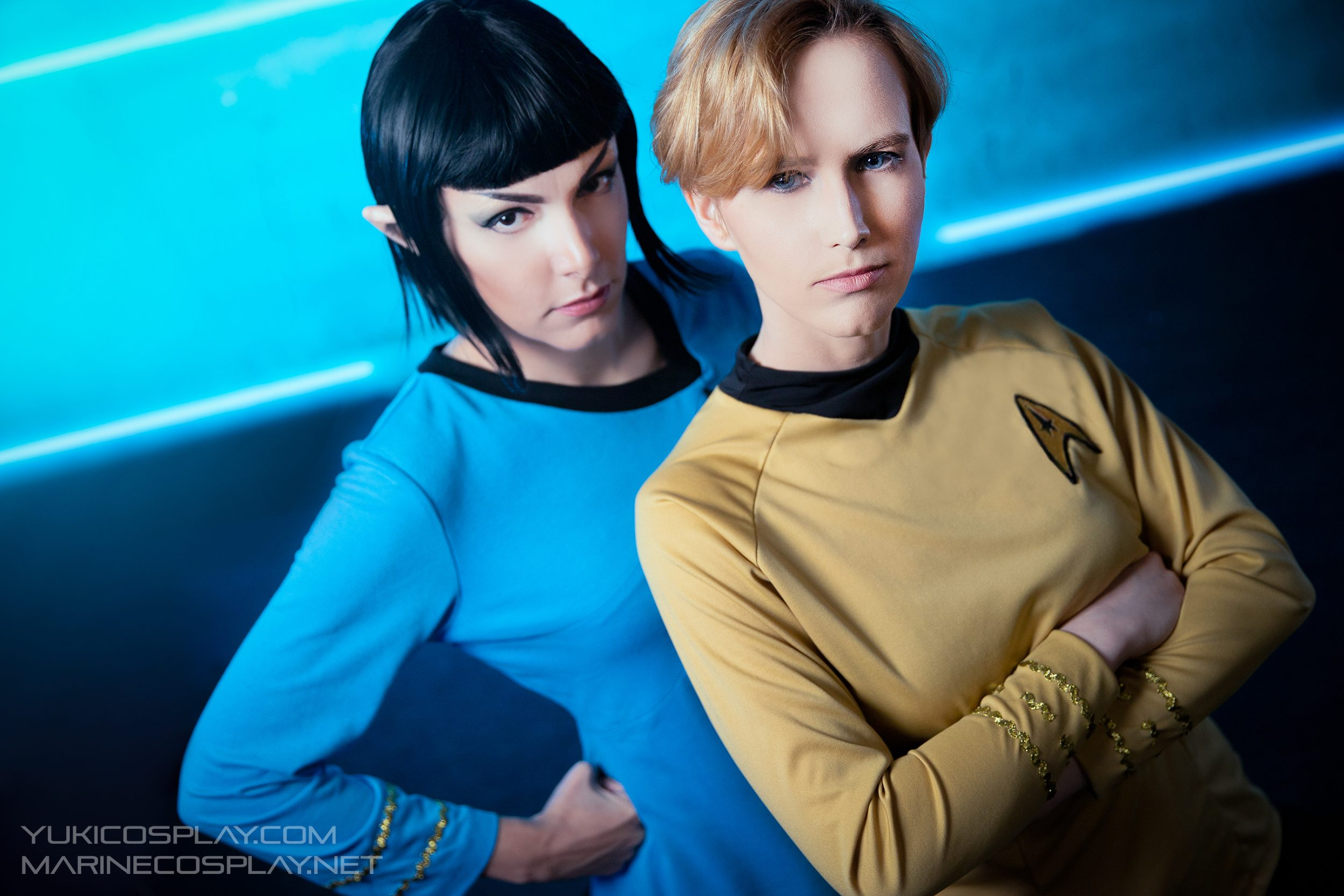 [PHOTOSHOOT][Star Trek] Female Spock and Kirk